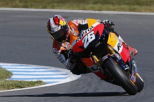 MotoGP Practice report Pedrosa leads the way at rain affected Sepang free practice