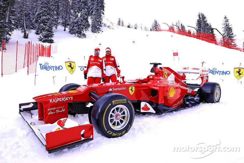 Wrooom 2013 – Massa and Alonso launch a piste for the Azzurri di Madonna di Campiglio