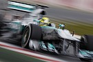 Mercedes's Rosberg completed the fastest lap of the day in Barcelona