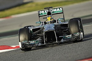 Formula 1 Testing report Hamilton sets the pace on the Circuit de Catalunya penultimate test day