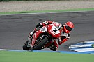 Schumacher back at speed on two wheels