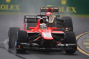 Formula 1 Qualifying report Wet qualifying debut for Bianchi and Chilton at Albert Park Circuit