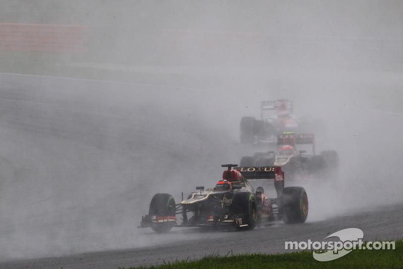 Grosjean finished sixth and Raikkonen seventh in Malaysian GP