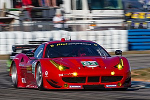 ALMS Practice report Risi Competizione Ferrari 458 Italia was third in GT class practice in Long Beach