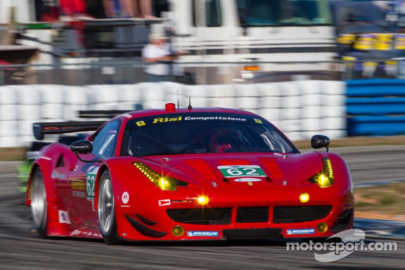 Risi Competizione Ferrari 458 Italia was third in GT class practice in Long Beach