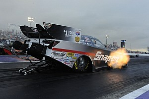 NHRA Qualifying report Pedregon drives Camry to top spot in Houston NHRA qualifying
