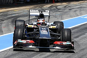 Formula 1 Qualifying report Few tenths of a second separated Sauber from a better start position on the Spanish GP