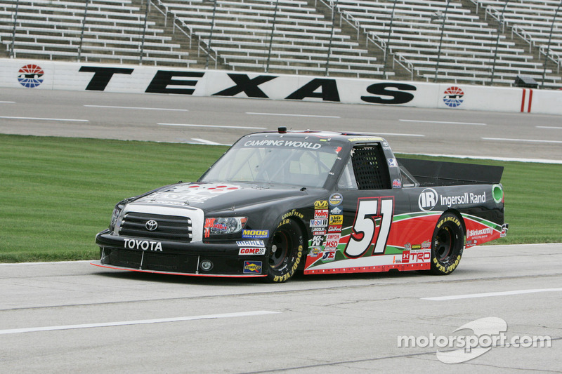 Hackenbracht's truck series debut cut short at Texas