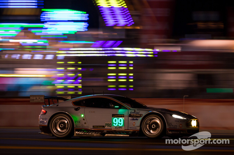 Racing to win for Allan, AMR leads at 8 hour mark