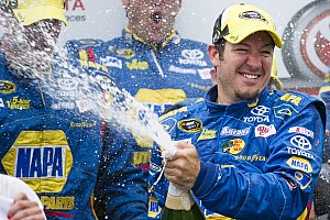NASCAR Cup Race report Truex Jr. breaks winless streak with victory at Sonoma