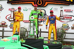 IndyCar Race report KVRT's Kanaan has fantastic race finishing third in Iowa