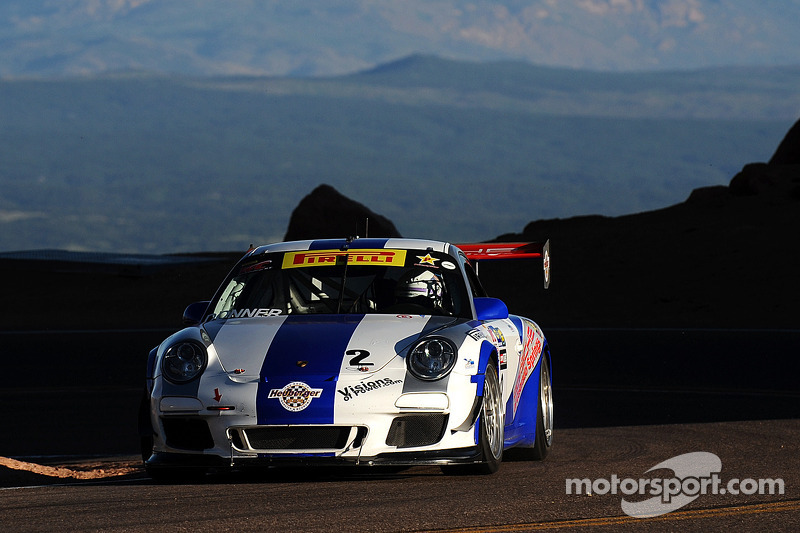 Porsche 911 GT3 Cup racers second and third at Pikes Peak