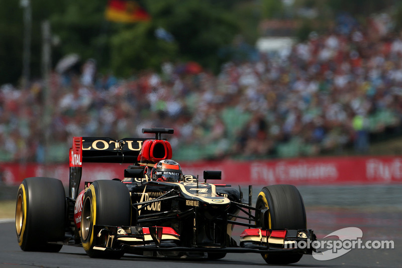 Lotus' Grosjean will take third place on the grid for tomorrow's Hungarian GP