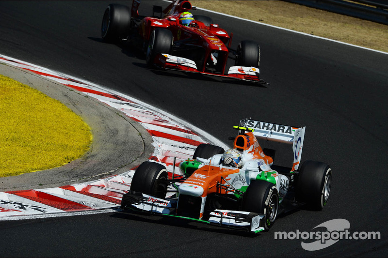 Force India drivers after Hungarian GP
