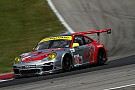 Flying Lizard Porsche top in GTC at Road America