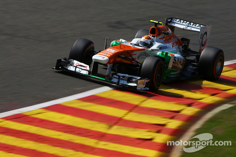 Di Resta and Sutil completed busy programmes on Friday practice at Spa