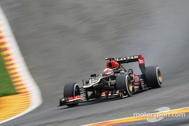 Raikkonen will start one position behind Grosjean on the Belgian GP