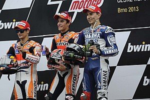 MotoGP Race report Bridgestone: Victorious Marquez continues record-breaking run in Czech Republic