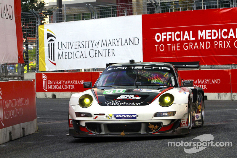 Paul Miller Racing No. 48 Porsche knocked out in race-start melee at the Baltimore Grand Prix