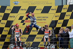 MotoGP Race report Bridgestone: Lorenzo the victor in fantastic last-lap battle at Silverstone