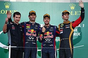 Formula 1 Race report 1-2 finish for Infiniti Red Bull Racing in Japanese GP