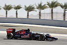 Toro Rosso's Daniil Kvyat improves his time on day three at Bahrain