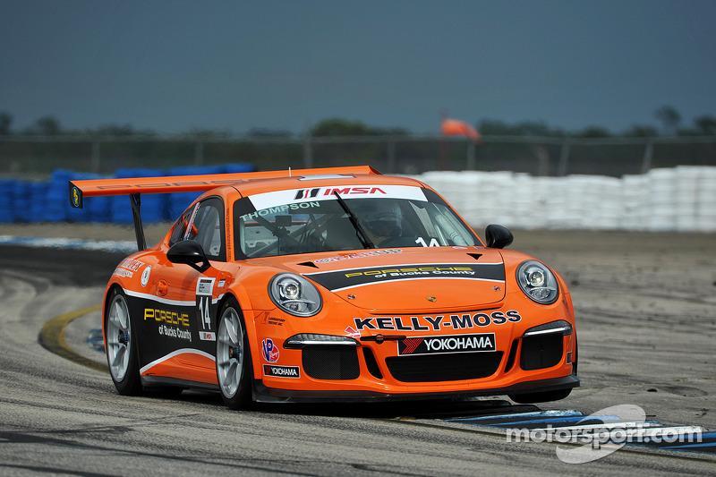 Kelly-Moss Makes Statement in Sebring To Start 2014 Porsche GT3 Cup Season