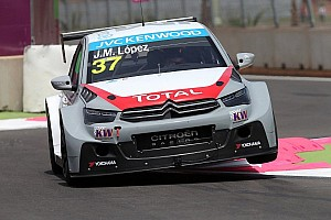 WTCC Race report  José María López leads Citroën trio in race 1 at Marrakech