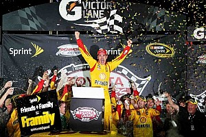 NASCAR Cup Race report Logano steals win in wild NASCAR Sprint Cup race at Richmond