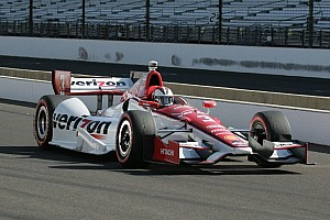 IndyCar Race report Helio Castroneves podium finish keeps Chevrolet in lead of manufacturer standings