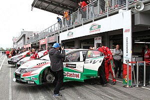 WTCC Race report Rain storm forces cancellation of Race 2 at Slovakia Ring