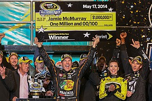 NASCAR Cup Special feature Jamie McMurray won the All-Star Race, but son Carter got the prize