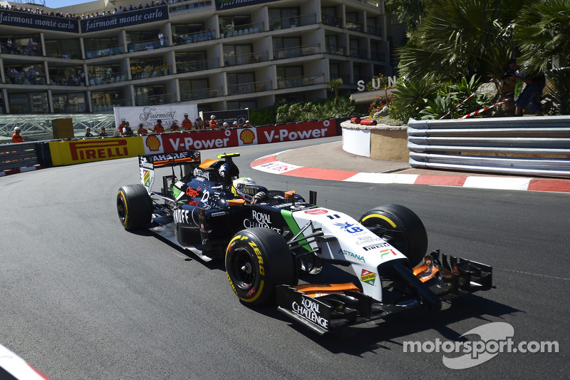 Sahara Force India's Perez is top ten for start the Monaco GP