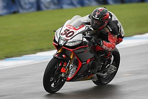 World Superbike Practice report Guintoli spearheads Aprilia charge on Day One