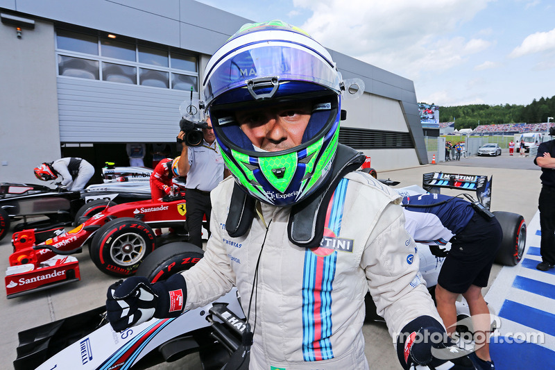 Massa leads an all-Williams front row for the Austrian GP
