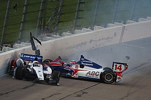 IndyCar Race report Weather and restart crash slow IndyCar race at Iowa