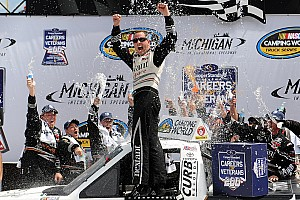 NASCAR Truck Race report Sauter holds off teammate in ThorSport 1-2 finish at Michigan