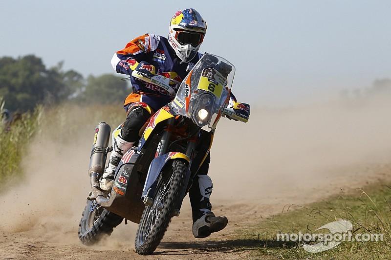 Stage 1 Dakar victor Sunderland gets lost
