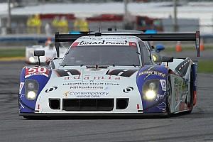 IMSA Testing report Doran Racing crew is hard at work repairing Fifty Plus Racing prototype after spectacular crash