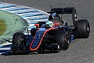 New McLaren-Honda chassis and power unit running together for the first time at Jerez