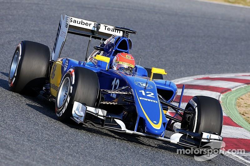 Despite an incident, Sauber's Nasr has a positive test day at Circuit de Catalunya