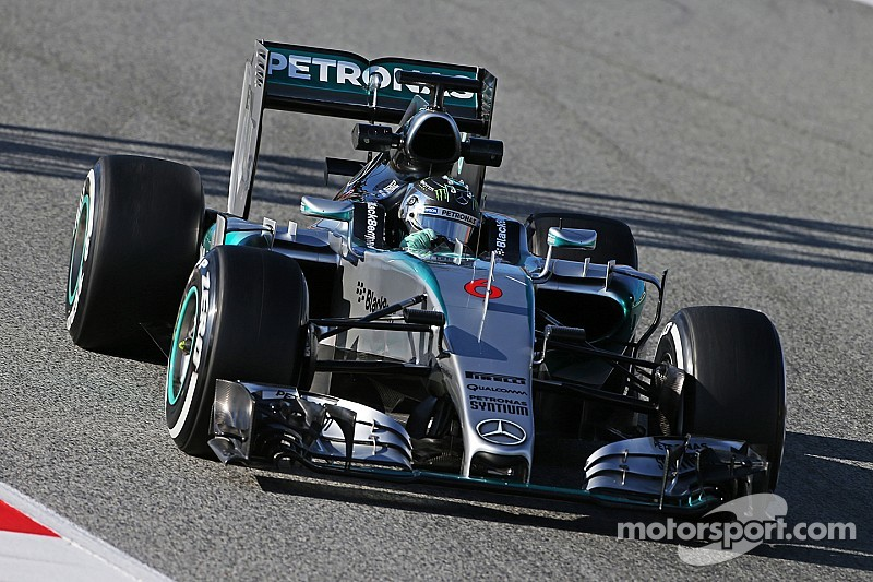Setup-chasing session for Rosberg on day two at the Circuit de Barcelona-Catalunya