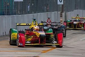 Formula E Race report Daniel Abt celebrates on Formula E podium in Miami