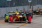 Daniel Abt celebrates on Formula E podium in Miami