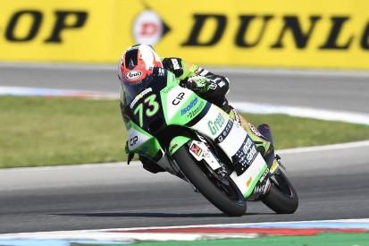 Erster Ausfall überhaupt: Moto3-Rookie Maximilian Kofler stürzt in Brünn