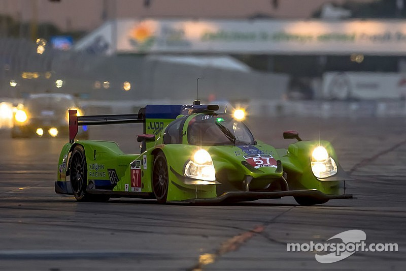 Krohn continues to show strength, leading night practice at Sebring