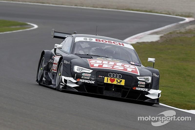 Les pilotes Audi en vue lors des tests d'Estoril