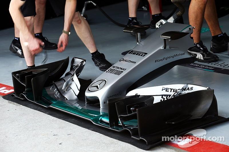 В Mercedes подготовили аэродинамические новинки