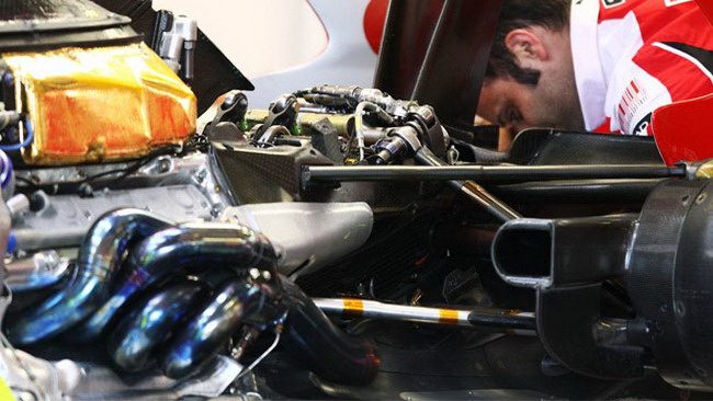 Ferrari F10: il nuovo cambio a Spa aiuta l'aerodinamica
