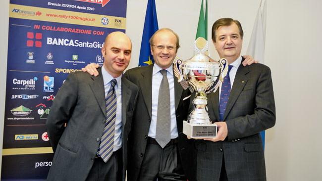 La FIA premia gli organizzatori del 1000 Miglia